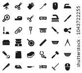 flat vector icon set   fetlock...   Shutterstock .eps vector #1043722255