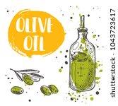 olive oil concept design. logo  ... | Shutterstock .eps vector #1043723617