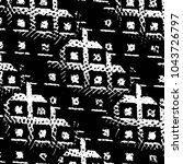 grunge halftone black and white ... | Shutterstock .eps vector #1043726797