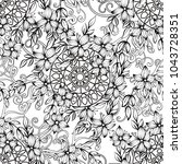 floral seamless pattern in...   Shutterstock .eps vector #1043728351