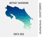 costa rica map in geometric...   Shutterstock .eps vector #1043728855