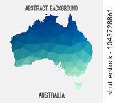 australia map in geometric...   Shutterstock .eps vector #1043728861