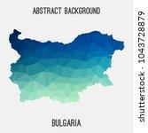 bulgaria map in geometric...   Shutterstock .eps vector #1043728879
