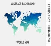 world international map in...   Shutterstock .eps vector #1043728885