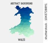 wales map in geometric...   Shutterstock .eps vector #1043728891