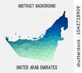 uae united arab emirates map in ...   Shutterstock .eps vector #1043728909
