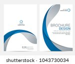 brochure template flyer design... | Shutterstock .eps vector #1043730034