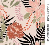 abstract elegance pattern with... | Shutterstock .eps vector #1043734447