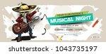 music party banner  flyer ... | Shutterstock .eps vector #1043735197