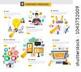 flat design concept content... | Shutterstock .eps vector #1043752009