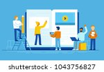 vector illustration in flat... | Shutterstock .eps vector #1043756827
