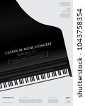 music grand piano poster... | Shutterstock .eps vector #1043758354
