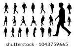 vector collection of walking... | Shutterstock .eps vector #1043759665