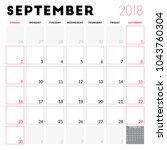 calendar planner for september... | Shutterstock .eps vector #1043760304