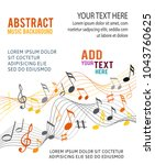 color music notes on a solide... | Shutterstock .eps vector #1043760625