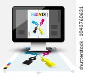 creative graphic design with... | Shutterstock .eps vector #1043760631