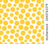 seamless pattern with juicy... | Shutterstock .eps vector #1043761579