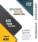 professional business design... | Shutterstock .eps vector #1043761669