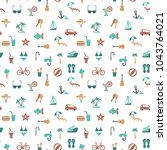 seamless pattern on the theme... | Shutterstock .eps vector #1043764021