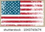 grunge american flag.vector... | Shutterstock .eps vector #1043765674