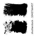 grunge brush strokes.hand... | Shutterstock .eps vector #1043766457