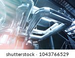 equipment  cables and piping as ... | Shutterstock . vector #1043766529
