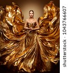 gold woman flying dress ... | Shutterstock . vector #1043766607