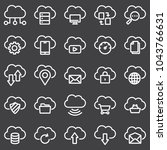 simple set of computer cloud... | Shutterstock .eps vector #1043766631
