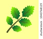 vector branch with green leaves.... | Shutterstock .eps vector #1043768125