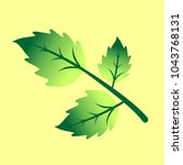 vector branch with green leaves.... | Shutterstock .eps vector #1043768131