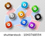 lottery balls and bingo lucky... | Shutterstock .eps vector #1043768554