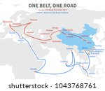 one belt   one road chinese... | Shutterstock .eps vector #1043768761
