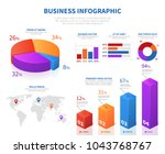 business abstract infographics... | Shutterstock .eps vector #1043768767