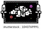 the user interface for the game.... | Shutterstock .eps vector #1043769991