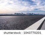empty road with panoramic...   Shutterstock . vector #1043770201