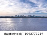 panoramic cityscape with empty... | Shutterstock . vector #1043773219