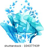 Water splash, abstract background - stock photo