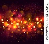 glittering bokeh background.... | Shutterstock .eps vector #1043775349