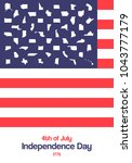 4th of july. usa independence...   Shutterstock .eps vector #1043777179