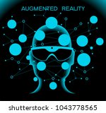 cyberspace  augmented reality ... | Shutterstock .eps vector #1043778565