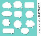 speech bubble set blue... | Shutterstock .eps vector #1043778625