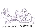 handshake concept two business... | Shutterstock .eps vector #1043778694