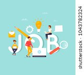 job search  career  freelance ... | Shutterstock .eps vector #1043782324