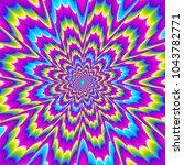 colorful rainbow flower blossom.... | Shutterstock .eps vector #1043782771