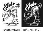 Vintage Skateboarding Poster...