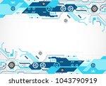 vector illustration  hi tech... | Shutterstock .eps vector #1043790919