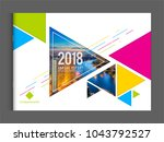 corporate business cover design ... | Shutterstock .eps vector #1043792527