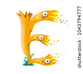 vector one letter e of sea... | Shutterstock .eps vector #1043794777