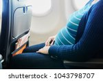 pregnant woman at second...   Shutterstock . vector #1043798707