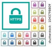 secure https protocol flat... | Shutterstock .eps vector #1043798809
